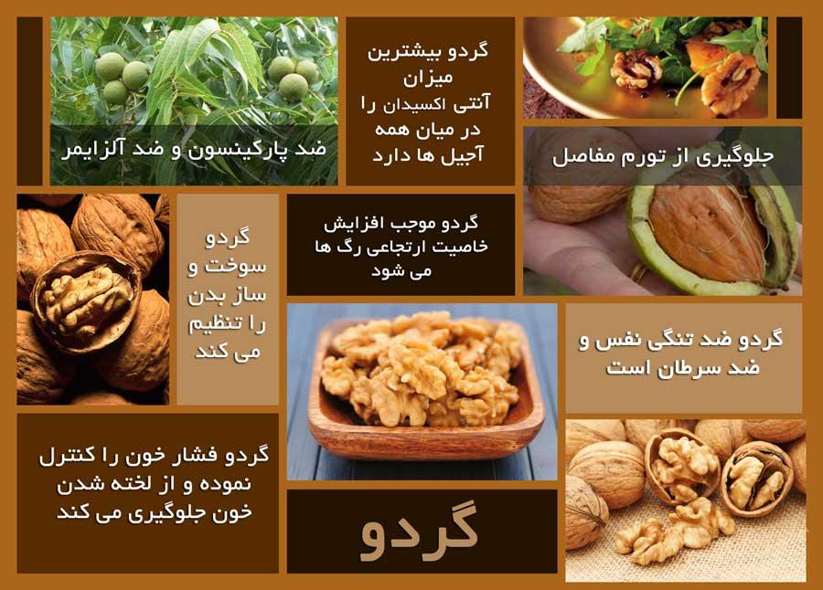 فواید گردو برای سلامتی